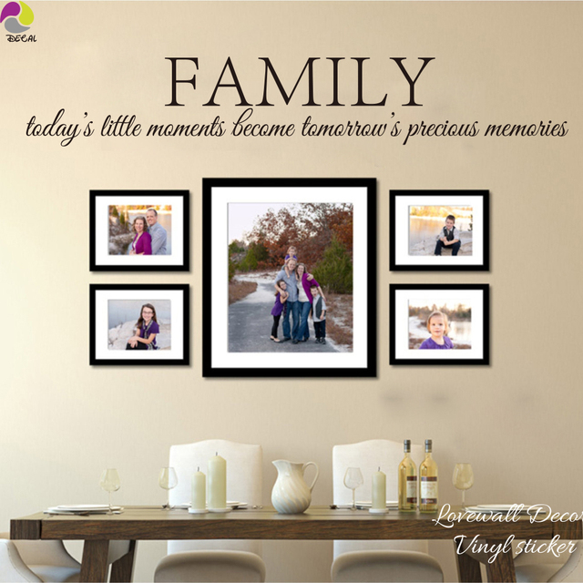 Us 782 10 Offfamily Todays Little Moment Become Tomorrows Precious Memories Quote Wall Sticker Decal Photo Frame Love Quote Vinyl Decor Diy In