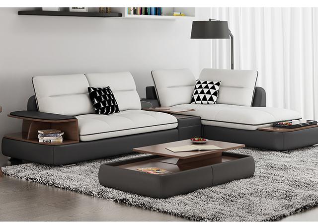 Living Room Sofa set corner sofa real genuine cow leather sectional sofas minimalist modern muebles de sala moveis para casa