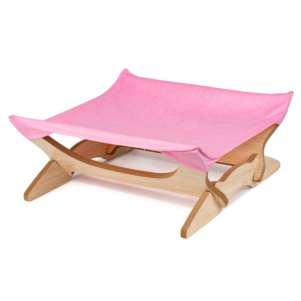 Animaux de compagnie chat hamac lit en bois repos cadeaux respirant doux confortable pour dormir E2S