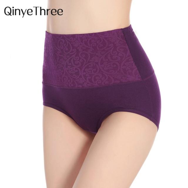 215bdf6e61d Women Cotton Panty High Waist Breathable Trigonometric Panties Plus Size  Female Underwear Body Shaping Briefs L-XXXXl