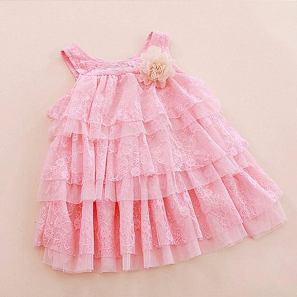 kojenecké holčičky krajkové šaty dětské oblečení pro podzim - Dětské oblečení - Fotografie 3