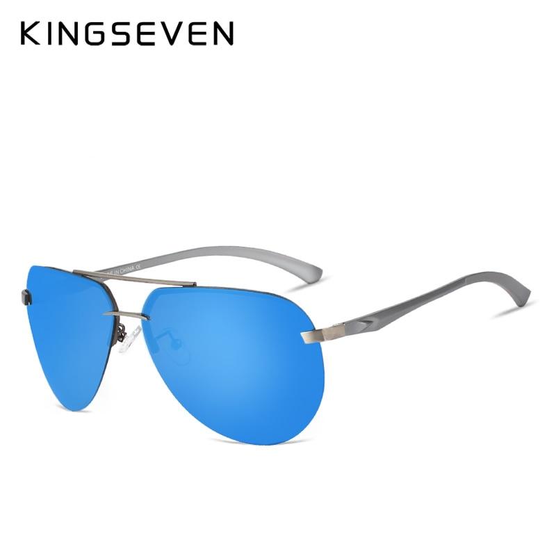 Kingseven En Aluminium magnésium HD polarisées aviation lunettes de Soleil femmes hommes conduite Lunettes de soleil vintage oculos de sol
