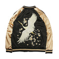 NEW Women basic coats jacket bird floral embroidered zipper chaquetas outwear fashion 2017 bomber jacket brand clothing