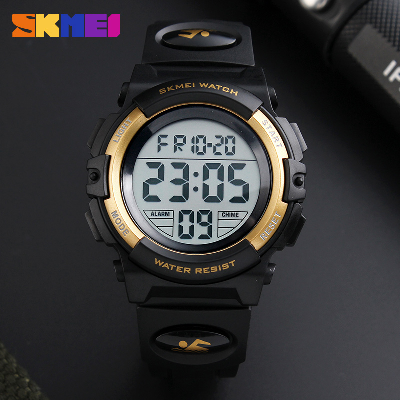 New SKMEI Famous Brand Outdoor Sports Children Watch Kids Watches Boys Girls LED Digital Wristwatches Waterproof Kid Watch Clock