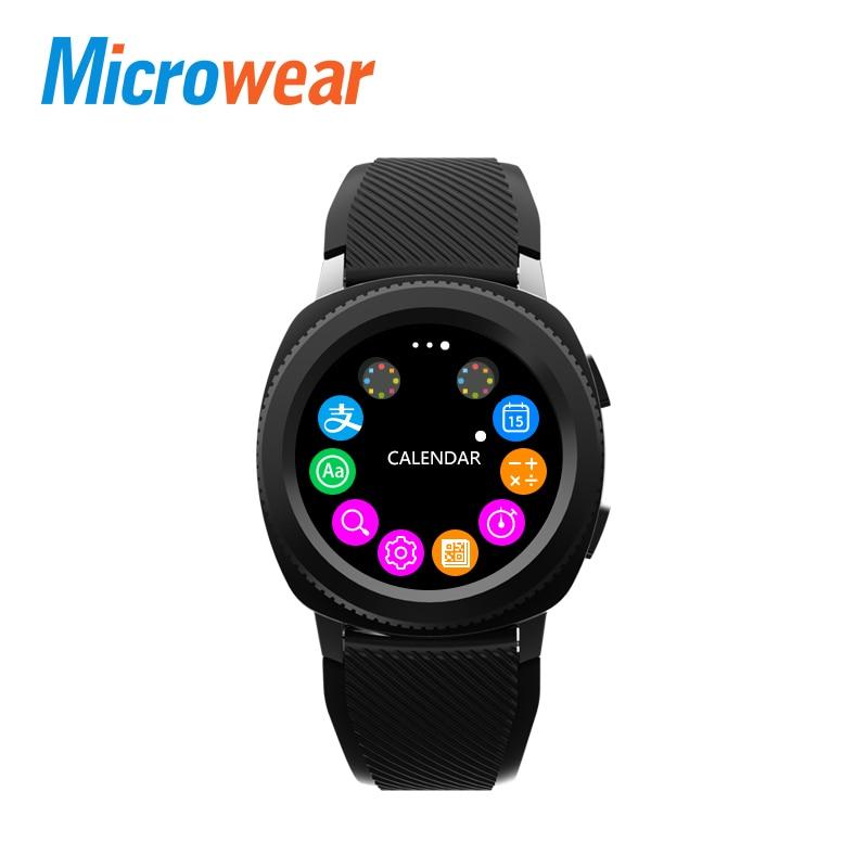 Microwear L2 Montre Smart Watch MTK2502 Bluetooth Appelant smart bracelet Coeur Taux smartwatch Podomètre Sommeil Moniteur Téléphone Contrôle