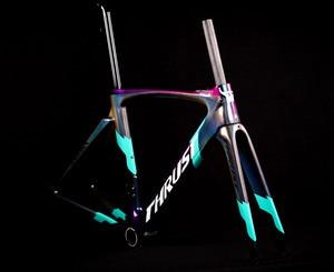 Image 2 - 2020バイクカーボン道路フレーム自転車フレームカメレオン色フレームセットbicicletaフレーム炭素繊維安価なカーボンロードバイク