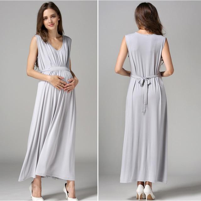Emotion moms Women's Long Summer Maternity Dress 6
