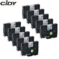 Cidy 10 個互換 TZe931 Tz 931 Tz931 ツィー 931 ブラックシルバーラベルテープブラザープリンタ強粘着