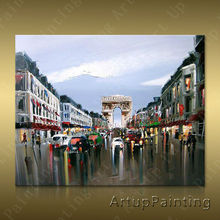 Paris Street Art Painting Home Decor Decoration Oil painting Wall Pictures for living room Decor	paint art paint1