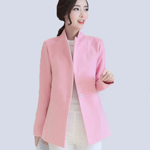 Hot Sale Women Jacket coat Autumn Winter 2017 New slim Warm Coat Women Imitation Cashmere Coats Solid Color Coat blends