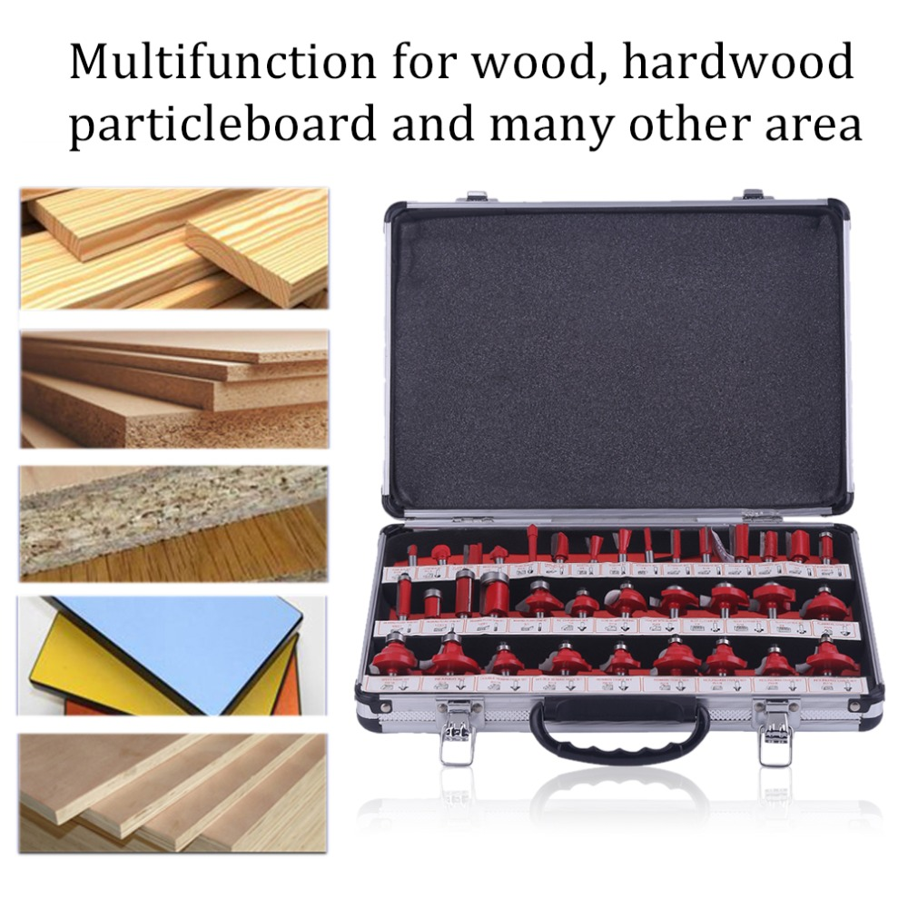35Pcs/set 21 Bearing Milling Cutter Bearing Flush Trim Router Bit Woodworking Milling Cutter Kit Carving Tools Hand Tools 1pcs 1 8 trimming knife woodworking milling cutter tools wood bearing flush trim 1 4 1 2 25mm