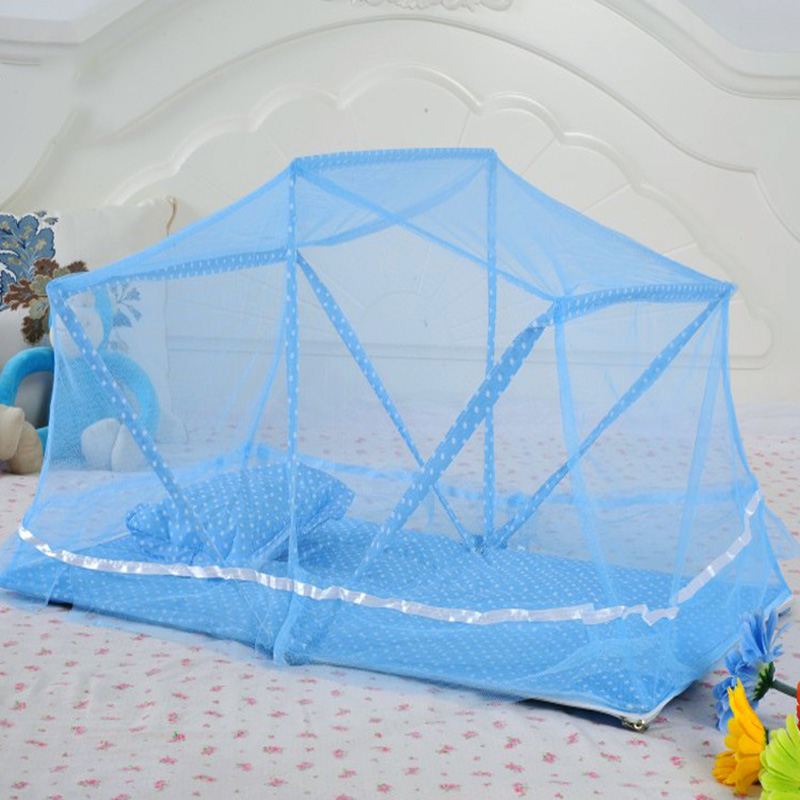 Portable Foldable Mosquito Nets Baby Bedding Netting Multi-function Baby Mosquito Nets Bed Pillow For 0-3 Years Old Children