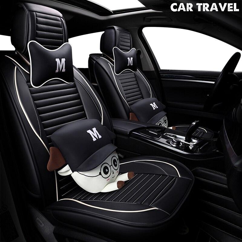 Pu siège de voiture En Cuir couverture Pour opel zafira un dodge journey kia cerato k3 mazda 3 bk 626 geely mk auto accessoires voiture-style
