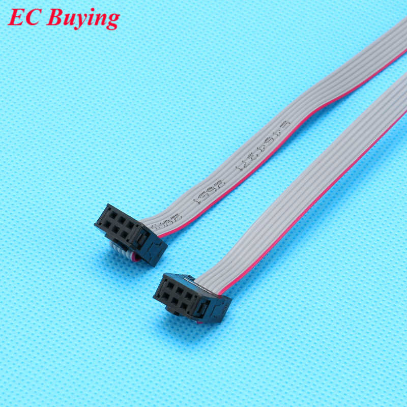 10 Pcs FC-6P 6 Pin 2.54 Mm JTAG AVR Download Kawat Kabel Konektor Abu-abu Pita Datar Kabel Data 28AWG 300V 30