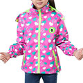 2016 New Fashion Waterproof Breathable Kids Trench Coat Girl Autumn Spring Cute Heart-shaped Print All-match Outwear Windbreaker