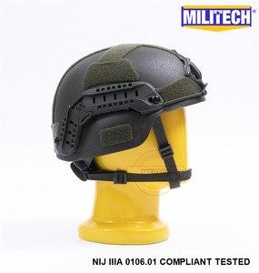 Image 4 - MILITECH Oliver Drab OD MICH NIJ Level IIIA Tactical Bulletproof Aramid Helmet ACH ARC OCC Dial Liner Aramid Ballistic Helmet