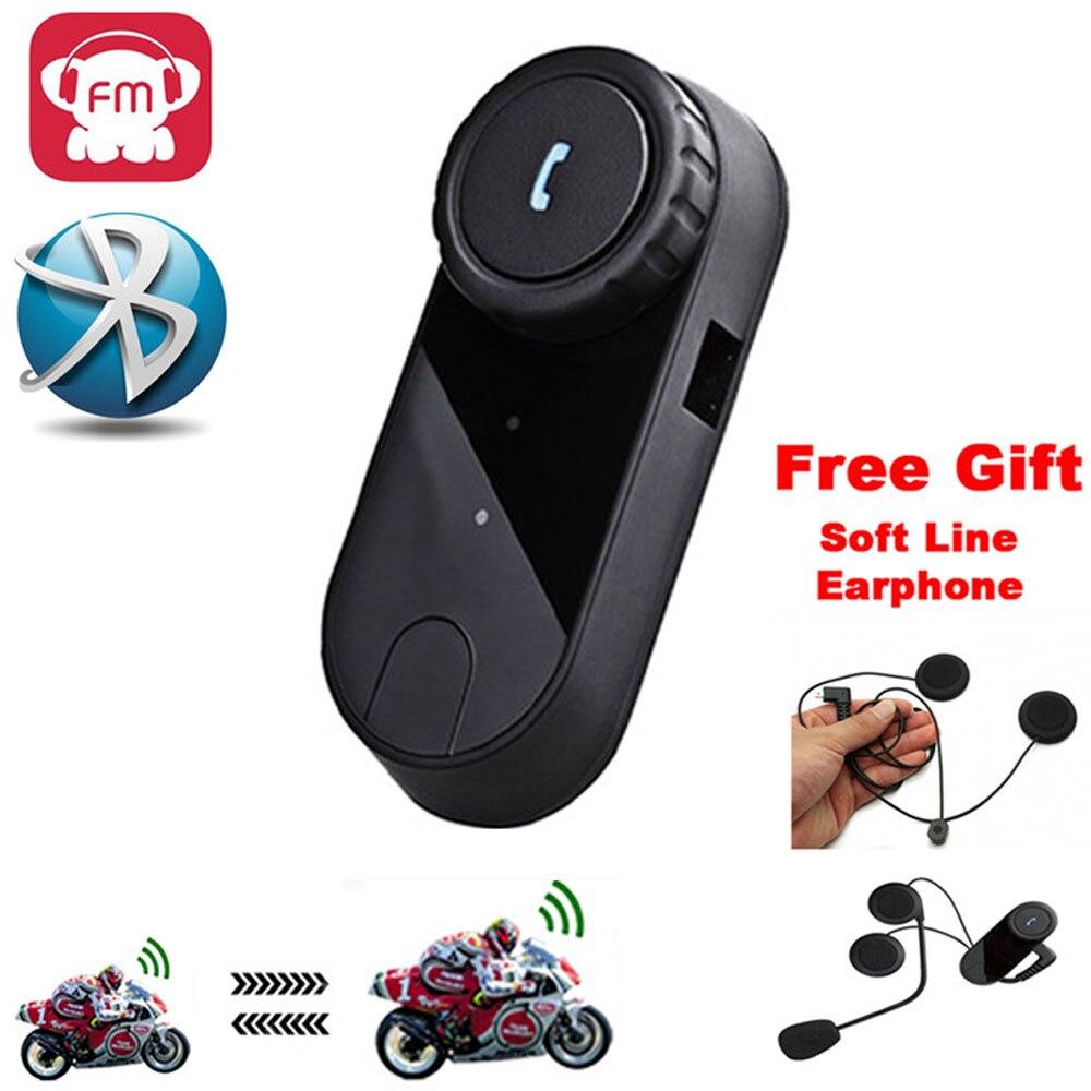 Écouteur Bluetooth casque d'interphone Bluetooth Intercomunicadores de Moto de Casco Moto Radio Domofon Interfone auriculaires