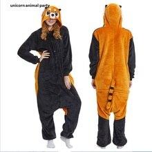 Halloween Kigurumi Adult Onesie Raccoon Pajamas Coon Sleepsuit Cosplay Pyjamas Unisex Anime Sleepwear Costume Jumpsuit