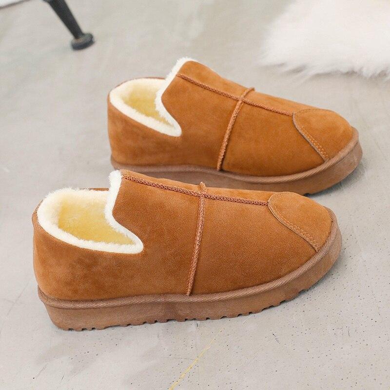 Militar Plana Gamuza Negro Piel Algodón Mujer Faux Invierno De Botas verde Zapato gris Nieve Cálido Tobillo Zapatos 2018 Impermeable naranja BUOvZWv