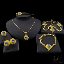 Yulaili Free Shipping Top Quality Popular Round Design Ethiopia Women Six Pieces Jewelry Sets
