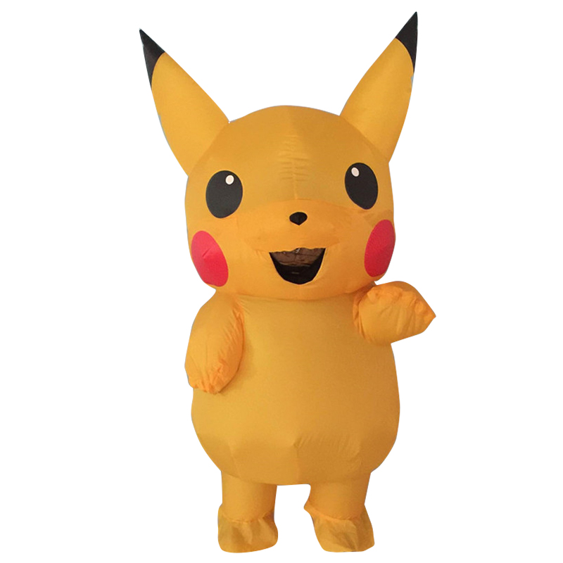 New Pikachu Inflatable cosplay Halloween Christmas Party Funny Inflatable Costume For Adult Party Activities Props Costumes