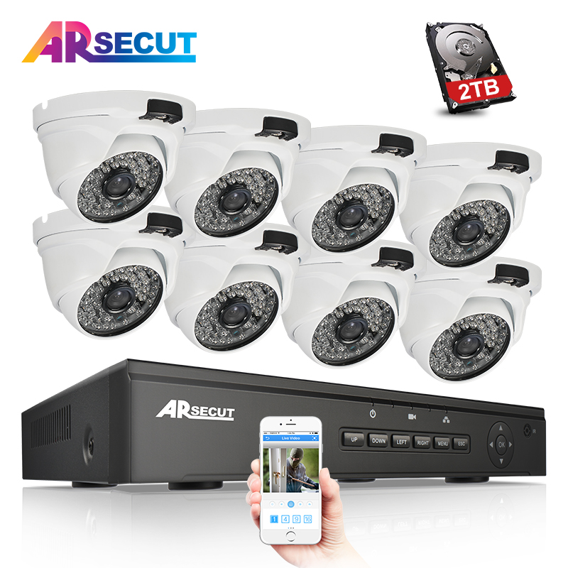 2017New Plug And Play 8CH NVR 48V POE CCTV Kit 1080P HD 48 IR Outdoor Indoor