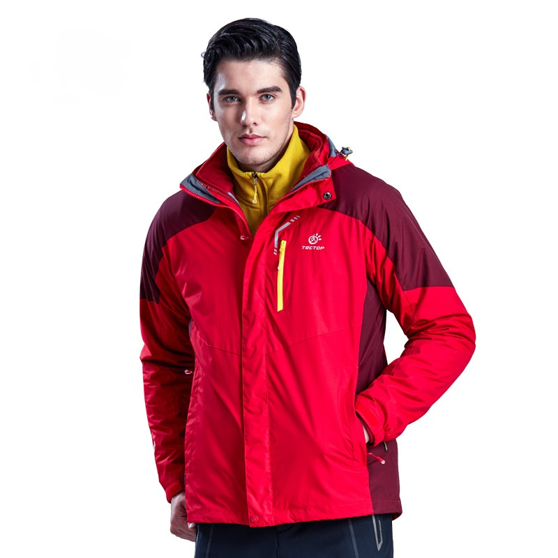 Brand New Winter 3 in 1 Hiking Jackets Men Outdoor Sport Waterproof Thermal Two-piece Coats For Travelling Skiing Hiking S-XXXL new winter 3 in 1 kids hiking jackets children boys girls waterproof thermal two piece fleece coats hiking skiing jacket