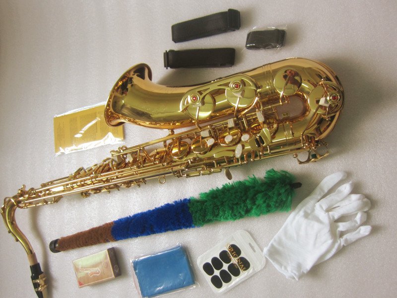 New Saxophone tenor Bb STS 802 model Sax gold tenor Saxopfone musical instruments Perfect packaging Gift