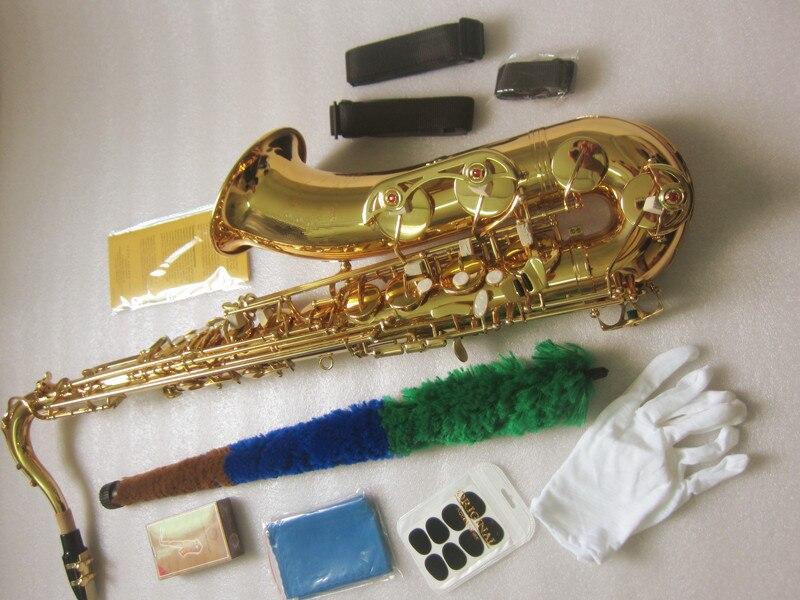 Nova Saxofone tenor Bb Saxopfone PTS-802 modelo ouro Sax tenor instrumentos musicais Presente embalagem Perfeita maneira embarque