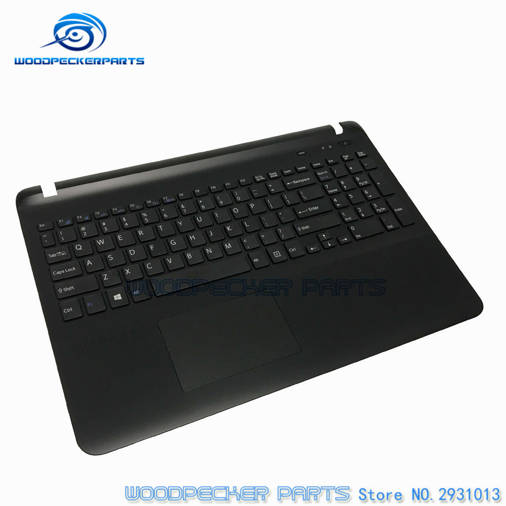 NEW Laptop For sony SVF15 FIT15 SVF151 SVF152 SVF153 SVF1541 SVF15E US Black keyboard with frame Palmrest Touchpad Cover цены онлайн