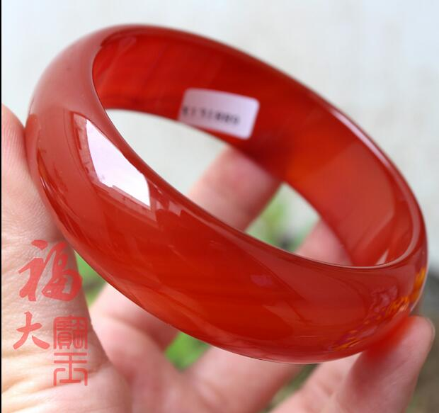 Bracelets & Bangles Fine Jewelry Natural Beautiful Stunning Red Pink Green Natural Hetian Yu Bangle Bracelet 60mm