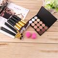 1set 15-Colors Makeup Face Concealer Palette + 8pcs Brushes Set + 2pcs Sponge Puff  Wholesale Fashion