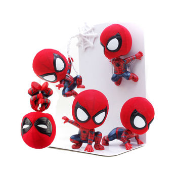 Spider Man Homecoming The Spiderman Q Version Mini PVC Figures Toys Car Home Decoration Doll 7 Styles Тахеометр