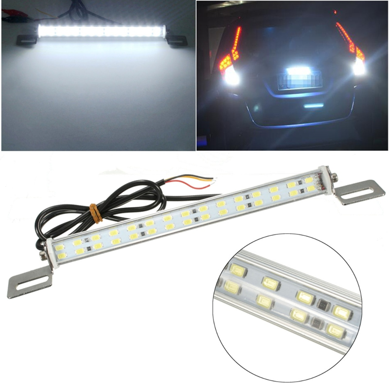 Super Brightness Brake Parking Reverse Lights 12V 30 LED Light Bar Brake Lights Tail Reverse Rear License Plate Lamp xuankun off road motorcycle modified led taillights turn lights brake lights license plate tail lighthouse