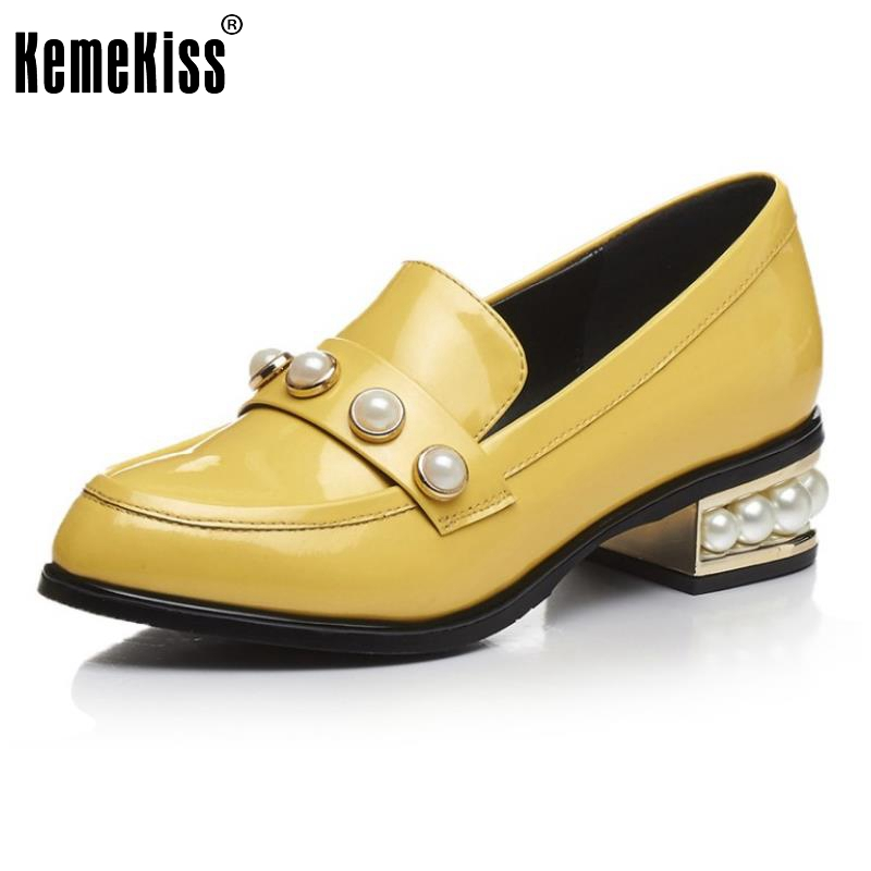 Ladies New Flats Patent Genuine Leather Shoes Women Beading Round Toe Sweet Women Shoes Fashion Comfortable Footwear Size 33-42 new 2017 spring summer women shoes pointed toe high quality brand fashion womens flats ladies plus size 41 sweet flock t179
