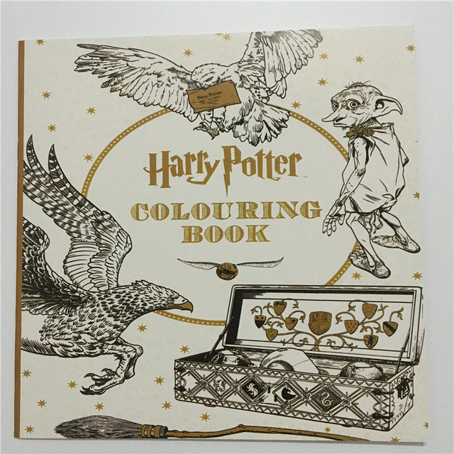 25X25 CM Harry Potter Coloring Book Books For Children Adult Secret Garden Series Kill Time