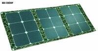 60 Вт SUNPOWER складной Portabe Панели солнечные выполненные ткань Зарядное устройство сумка для ноутбука/12 В Батарея Солнечный комплект зарядки дл