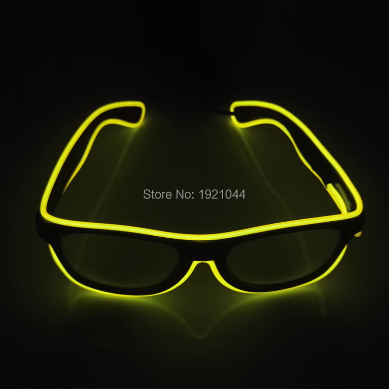 New Style Flashing EL wire Led Glasses Luminous Party Lighting Colorful Glowing Gift For Bright Light Holiday Party Decoration