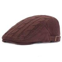 Fasbys English Style Winter Warm Beret Hat Classic Design Vintage Visor Cap Snapback for Men Women Flat Caps Boina Hats 3 Colors