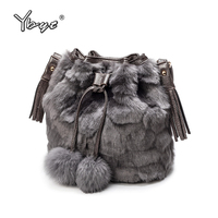 YBYT Brand New Velvet Fur Women Totes Leopard Satchels Party Evening Bag Ladies Handbag Female Shoulder