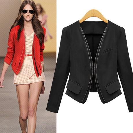 Aliexpress.com : Buy Black and Red 2014 Fashion Women Coat Short