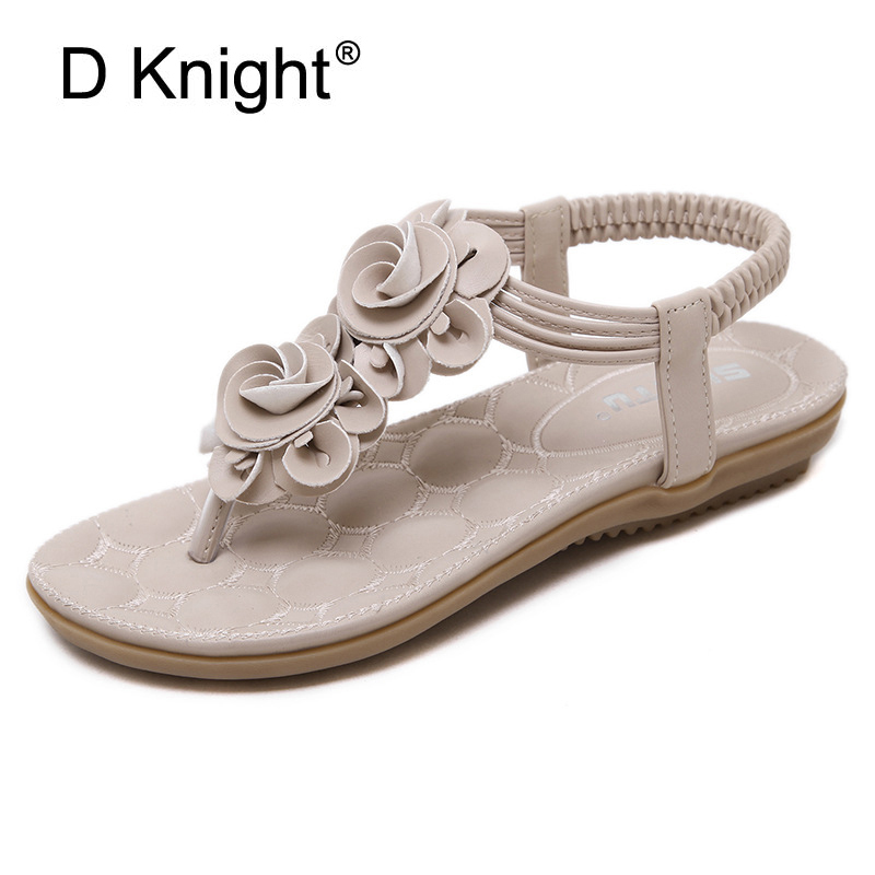 Gladiator Sandals Women 2017 Summer Flip Flops Ladies Casual Platform Shoes Woman Slip On Flats Big Size 35-41 Beach Sandals E95 phyanic 2017 gladiator sandals gold silver shoes woman summer platform wedges glitters creepers casual women shoes phy3323