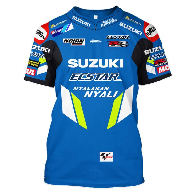 Рыцарь 2019 MOTO GP для SUZUKI GSX GSXR 600 750 GSXR1000 k1 k6 k7 гоночная команда для верховой езды спортивная быстросохнущая футболка командная рубашка