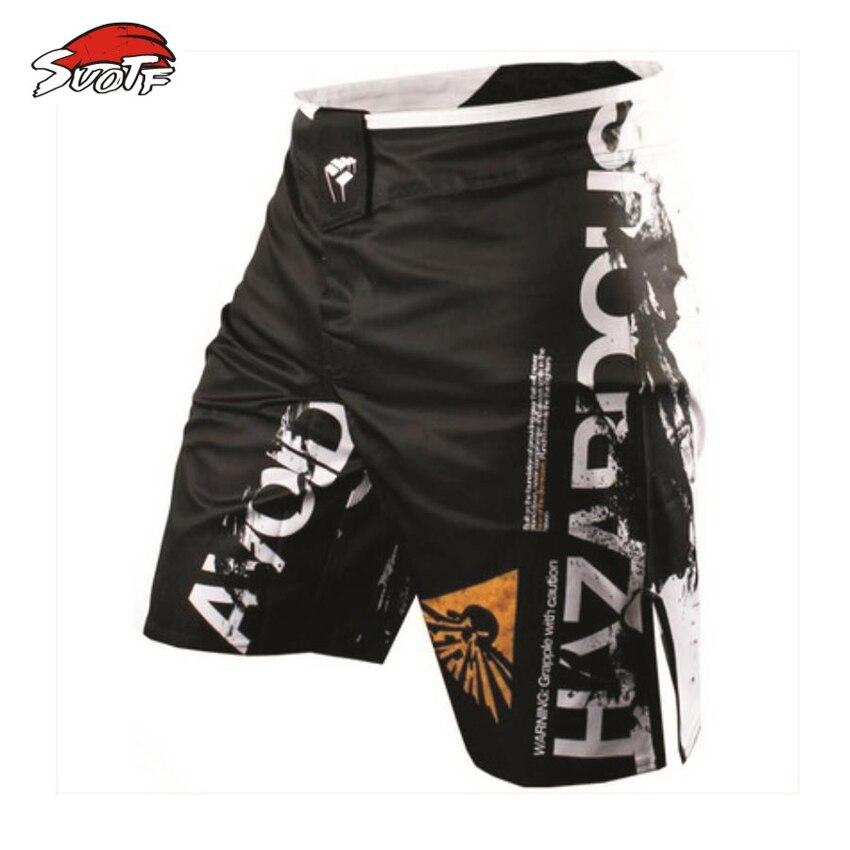 SUOTF 2015 Printemps énumérés MMA lâche de boxe muay Thai short Confortable sueur à séchage rapide lutte formation Mondial livraison gratuite