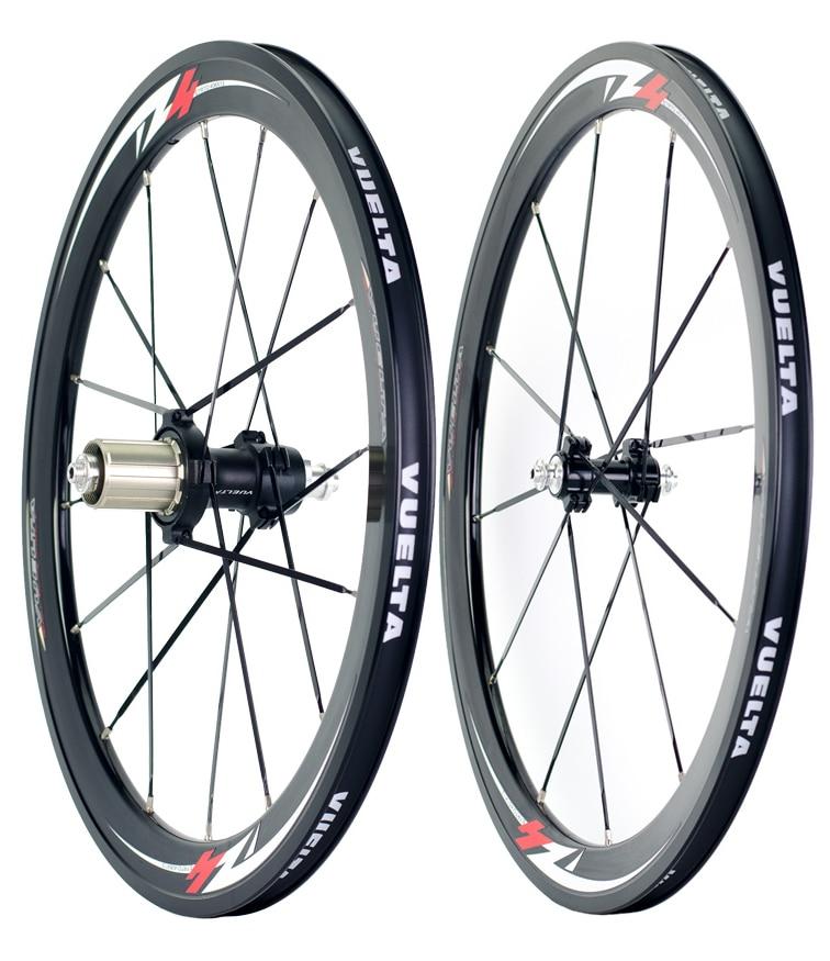 20 inch bike wheel front 74mm rear 130mm for 406 451 folding bike 13G spoke Straight