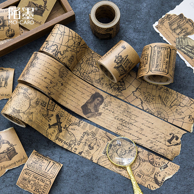 5cm*5m Vintage newspaper map washi tape diy decoration for scrapbooking masking tape adhesive tape ...