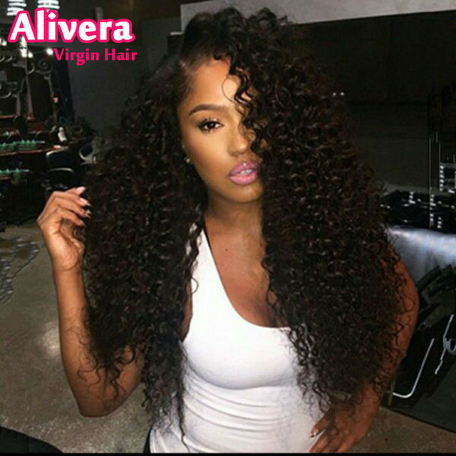 Unprocessed Virgin Malaysian Deep Curly Full Lace Wig