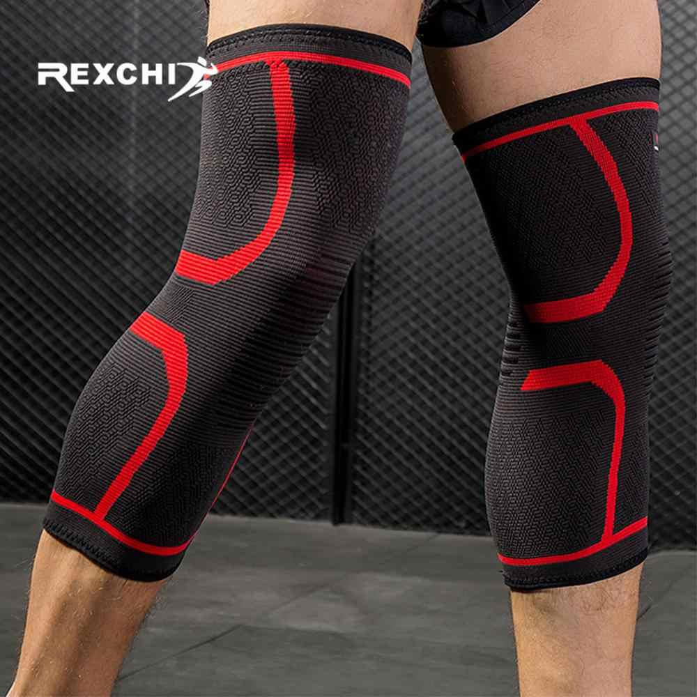 REXCHI 2 pièces Genouillères Élastiques En Nylon Genouillère De Sport Fitness Équipement De Protection Rotule Support en Cours D'exécution Basket-Ball Volley-Ball