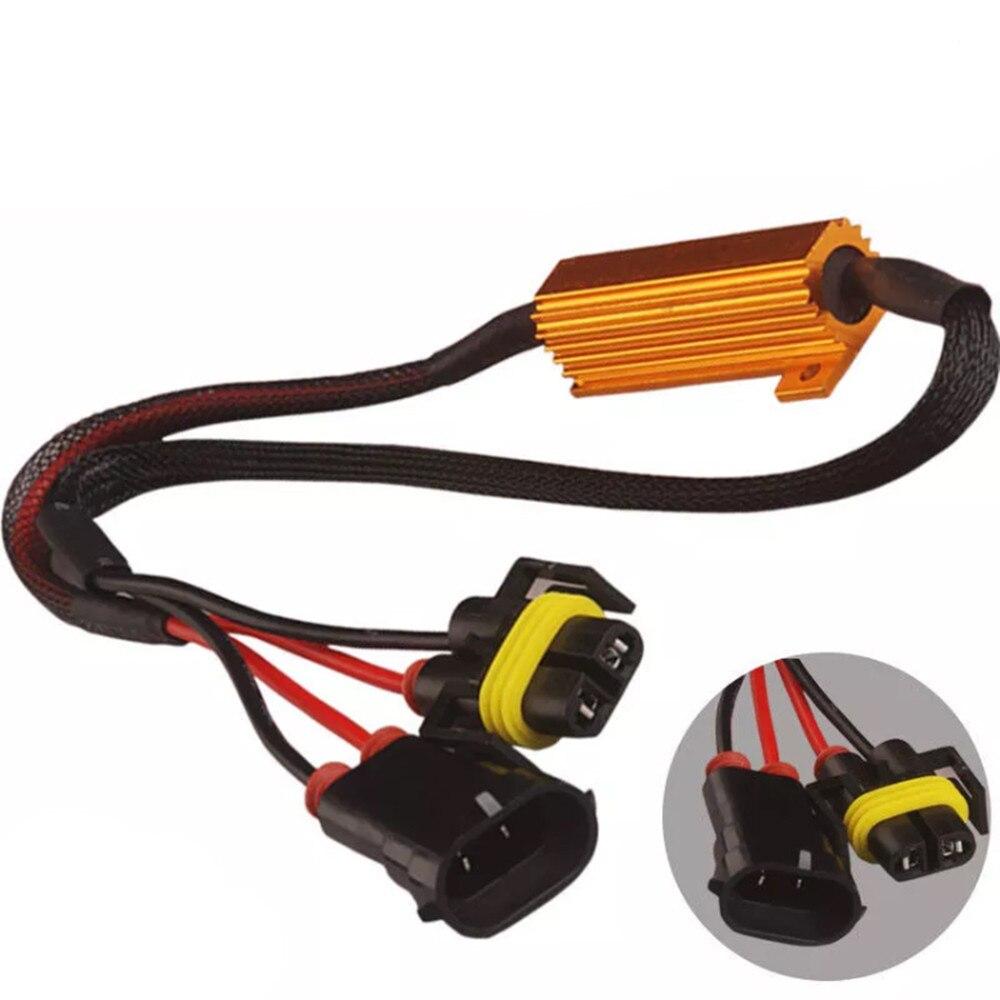 2 pièces automobiles, résistances de charge, accessoires H8, H11 LED DRL, Canbus 50W, décodeur sans erreur, annuler un Signal de clignotant Led