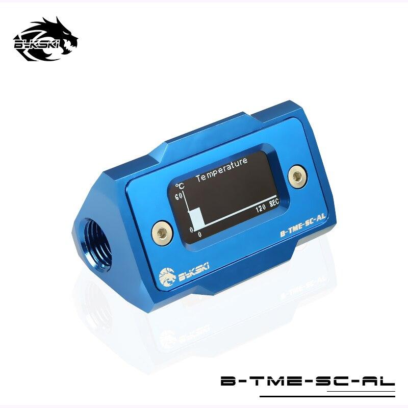 Bykski OLED affichage numérique compteur de température de L'eau refroidisseur d'eau Système Double G1/4 ''Thermomètre Température Capteur Montage - 4